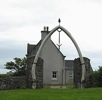 whalebone arch, made in 1921 from the jawbone of an 80 foot long blue whale